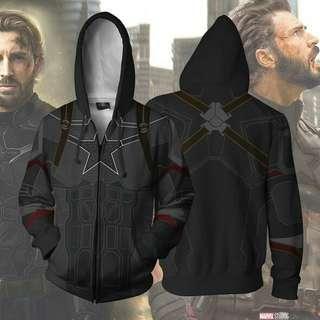 Avengers: Infinity War Hoodies - Captain America Zip Up