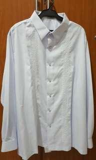 Office Barong White Long Sleeves (New)