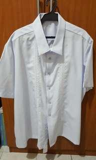Office Barong White Short Sleeves (new)