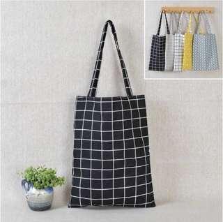 [Xmas sale] basic Canvas Tote Bag BLACK