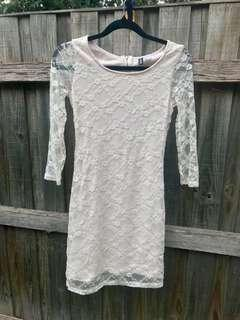 Divided Lace Dress