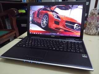 Msi 15.6inch/4Gb/500Gb hdd/i3/windows7/Gaming