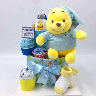 Ready stock! Winnie the Pooh Diapers Cake - Ready Stock