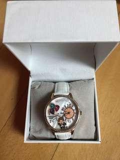 Monchhichi白色錶帶手錶