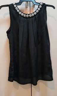 Black Sleeveless with Beads