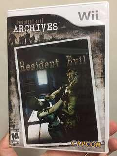 Resident Evil archives Wii edition