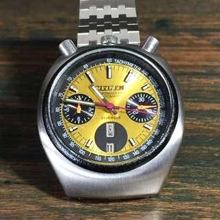 "1970s Citizen Chronograph ""Bullhead"" Challenge Timer"