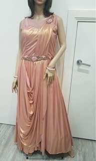 Pink chrome formal dress