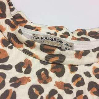 Pull & Bear Animal Print Pull-Over
