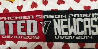 EPL Manchester United vs Newcastle 06 Oct 2018 Matchday Scarf