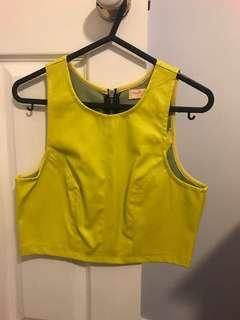 Cropped Neon Yellow Top