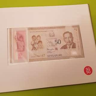 $100 sg50 notes with booklet