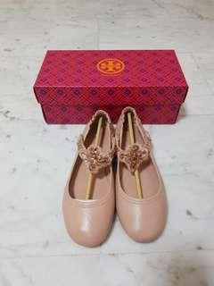 Tory Burch Minnie Embelissed Two Way Ballet Flats