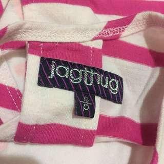 JagThug striped crop top