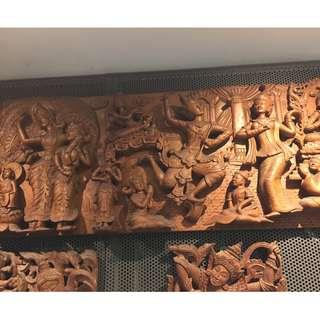 Long Thick Wood Carving