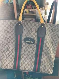 Gucci X Supreme large pvc tote with dust bag