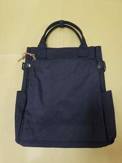 Vintage 古著 海軍藍色3way 帆布包