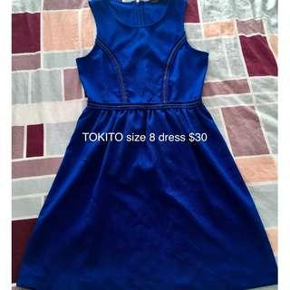 Womens tokito Myer dress FREE POST blue semi formal
