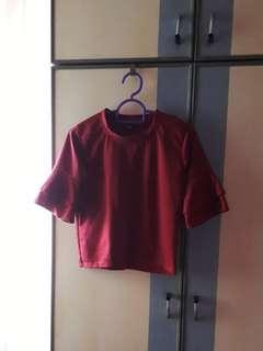 Maroon Crop Top BN