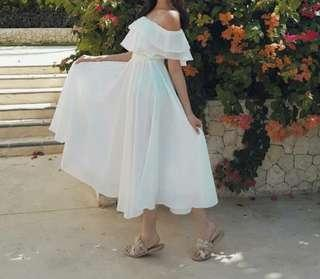 Dress putih summerwear