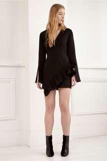 C/meo double take L/S dress in black
