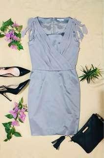 PLAYLORD Grey Drape Dress