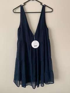 💖Princess Polly Size 6 Navy Blue Dress