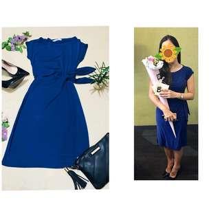 DIANE VON FURSTENBERG Blue Drape Wrap Dress