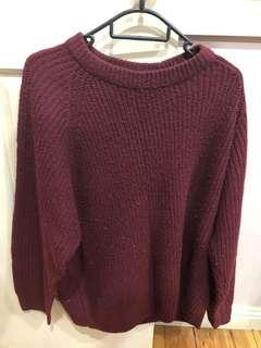 Maroon Knitted Jumper