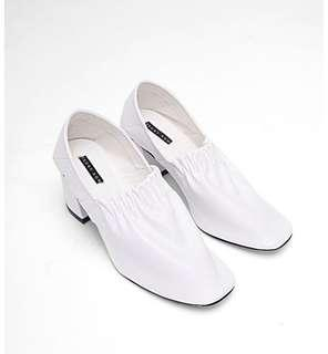 Front row Lyie White Mules