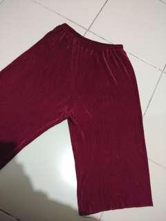 PLUS SIZE XL-4XL culottes squarepants maroon preloved