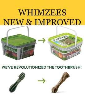 3 sizes! Whimzees Natural Grain Free Daily Dental Dog Treats Variety Packs