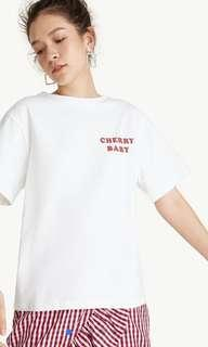 🚚 Pomelo Cherry Baby Graphic Tee - White