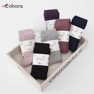 Knitted Elastic Tights (Black) for 1-2yrs old good for winter