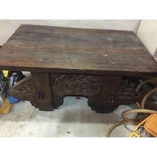 Antique Wood Table Set