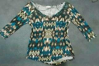 ZARA Aztec Knitted Top