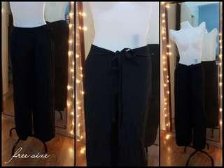 black cotton square pants