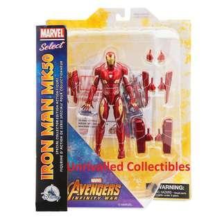[Pre-Order] Diamond Select Toys Marvel Select Iron Man Mk 50 Mark 50 (Disney Marvel Shop Exclusive)