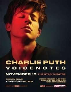 CAT1 Charlie Puth Voicenotes Concert