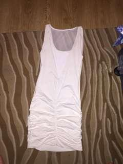 Kookai Unworn white size 2 midi dress net open back