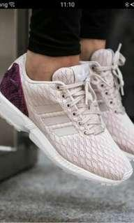 Adidas zx flux beige and pink