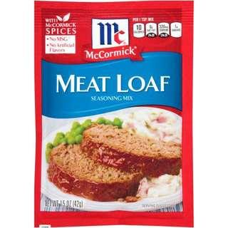 🚚 ✨美式家常肉餅調味粉 美式肉餅 McCormick Meat Loaf Seasoning Mix, 1.5 oz