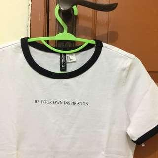 H&M tops be your own inspiration ringer tee