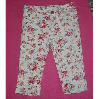 GIRL'S WHITE DENIM PANTS