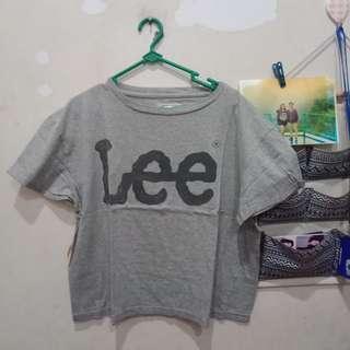 Grey Crop Tshirt Short Sleeve by Lee Jeans