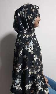 Floral Shawl #1: Black Beauty