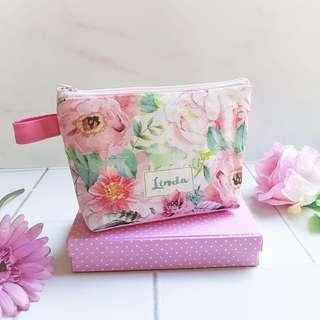 CUSTOM CANVAS POUCH floral
