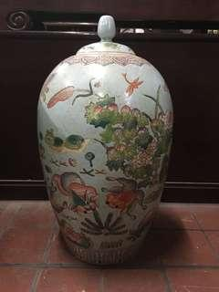 Chinese Famille Rose Cover Vase