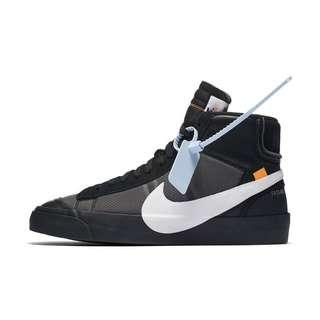 Off White Nike The Ten: Nike Blazer Mid (Black)