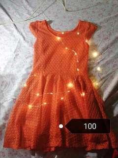 Neon orange dress